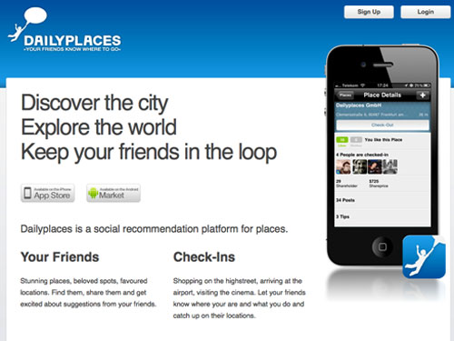 Dailyplaces - Mobile Location Based Network